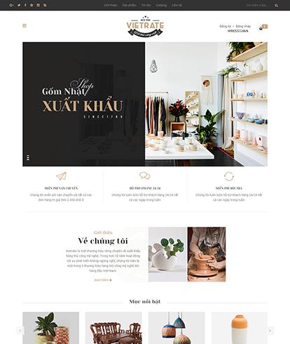 Thiết kế website bán hàng thủ công mỹ nghệ