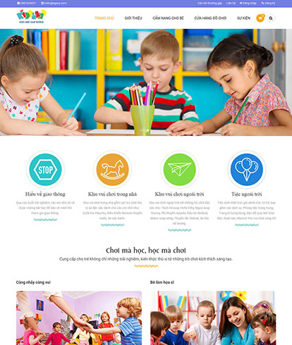 Thiết kế website bán hàng trẻ em EGA KisLand