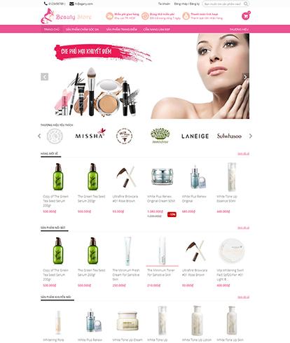Thiết kế website bán mỹ phẩm EGA The Beauty Store