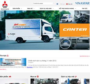 Thiết kế website bán ô tô Mitsubishi
