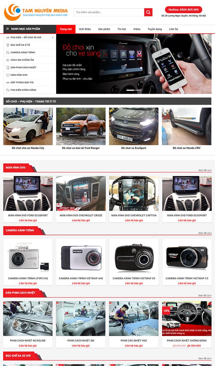 Thiết kế website bán Ôtô chuyên nghiệp