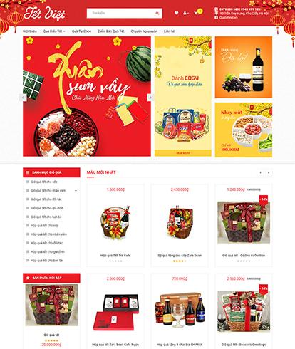 Thiết kế website bán Quà tết Tết Việt