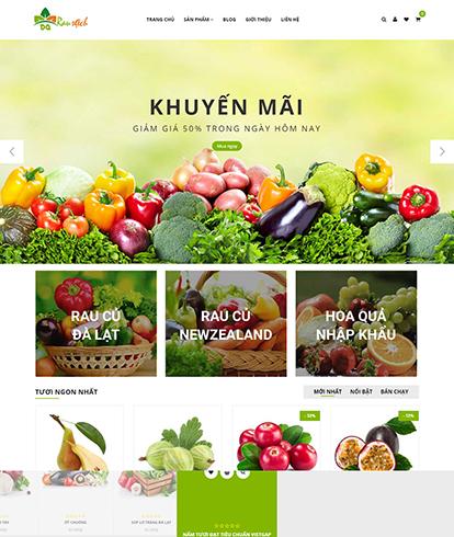 Thiết kế website Bán Rau sạch