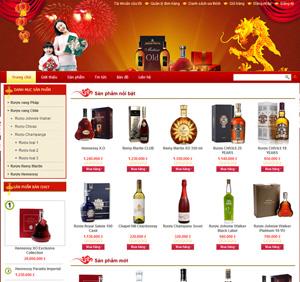 Thiết kế website bán rượu