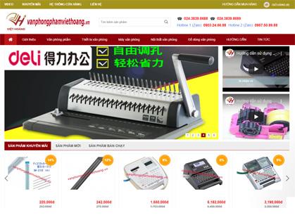 Thiết kế website bán văn phòng phẩm