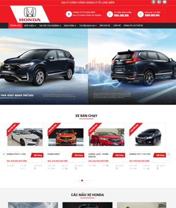 Thiết kế website bán xe oto