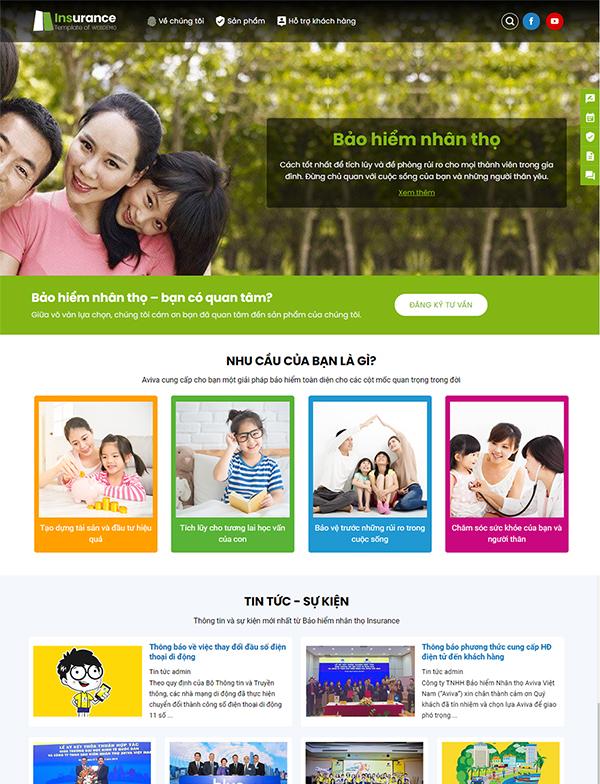 Thiết kế website bảo hiểm nhân thọ