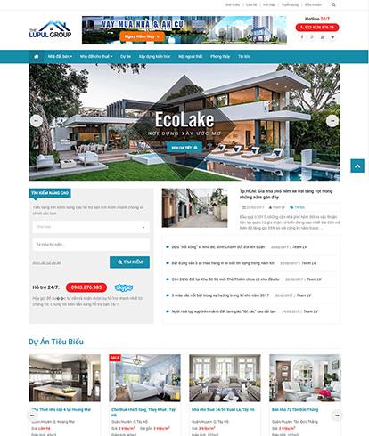 Thiết kế website Bất động sản Ecolake