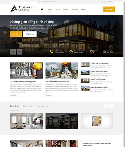 Thiết kế website bất động sản Abstract