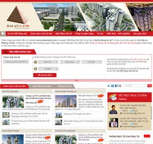 Thiết kế website bất động sản Đại An