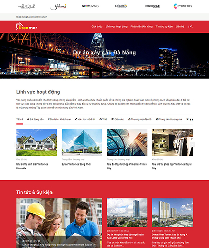 Thiết kế Website Bất động sản Dreamer