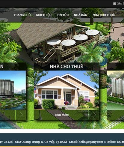 Thiết kế website bất động sản EGA Land