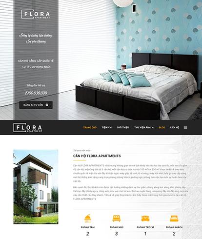 Thiết kế website bất động sản Flora apartment