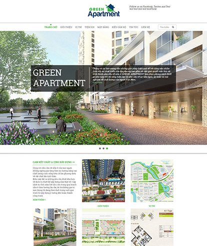Thiết kế website bất động sản Green Apartment