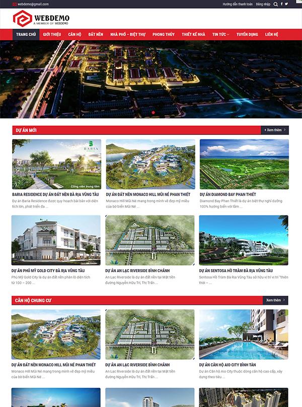 Thiết kế website bất động sản - Mẫu số 6