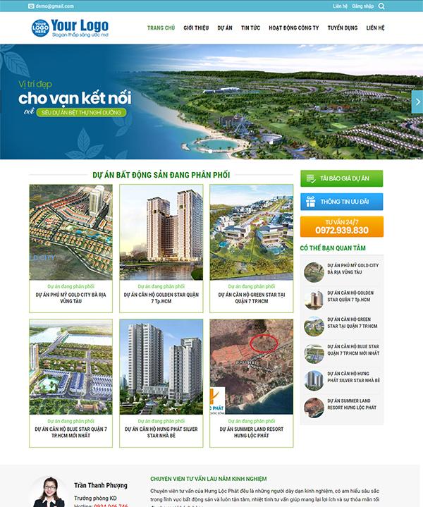 Thiết kế website bất động sản - Mẫu số 7