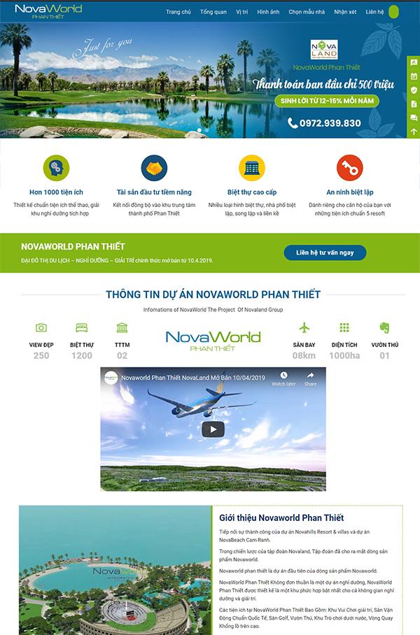 Thiết kế website bất động sản NovaWord - Mẫu số 5