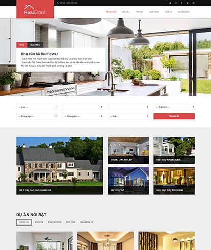 Thiết kế website bất động sản Realestast