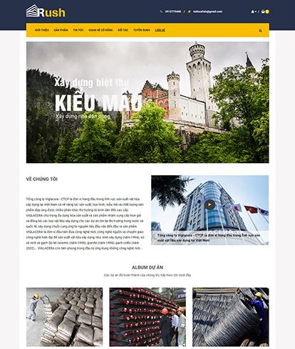 Thiết kế Website Bất động sản Rush Theme