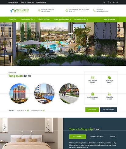 Thiết kế Website Bất động sản Vinhouse