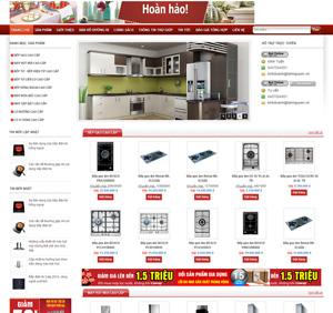 Thiết kế website bếp đẹp