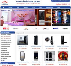 Thiết kế website công ty Cổ phần Alense Việt Nam