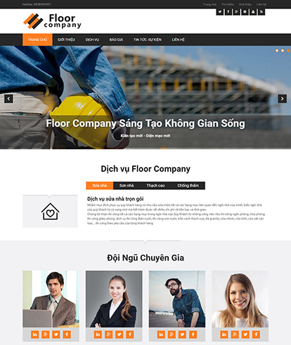 Thiết kế website công ty Floor Company