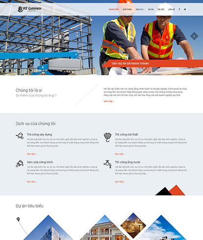 Thiết kế website công ty HT Construction Company