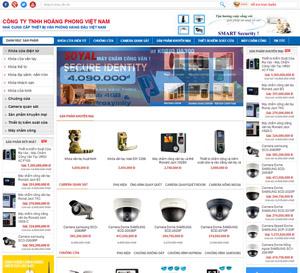 Thiết kế website công ty Khóa điện tử