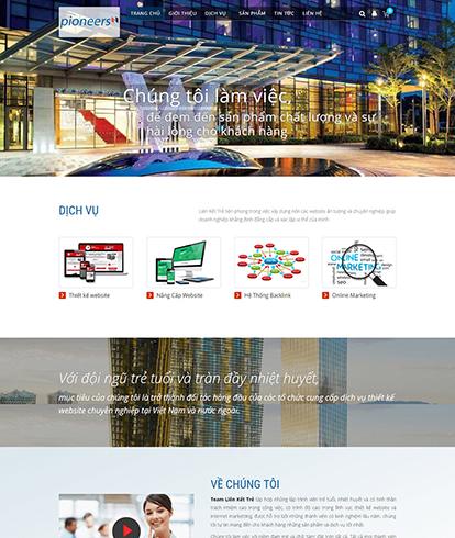 Thiết kế Website Công ty LKT Pioneers