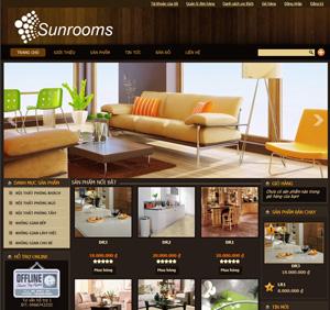 Thiết kế website công ty nội thất Sunroom