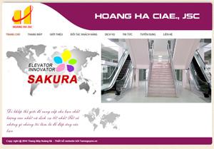 Thiết kế website công ty thang máy Hoàng Hà