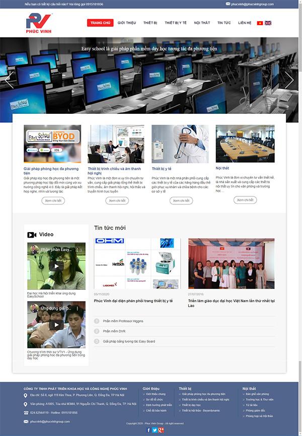 Thiết kế website công ty thiết bị giáo dục