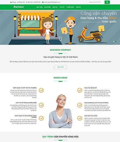 Thiết kế website công ty vận chuyển Business Company