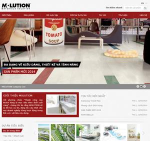 Thiết kế website công ty Vật liệu xây dựng cao cấp Molution