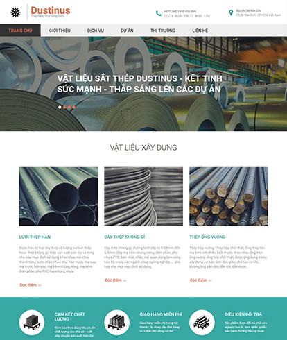 Thiết kế website công ty vật liệu xây dựng Dustinus
