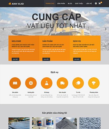 Thiết kế Website Công ty Vật liệu xây dựng VLXD