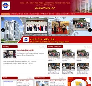 Thiết kế website công ty Vinaincomex