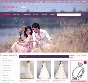Thiết kế website dịch vụ áo cưới