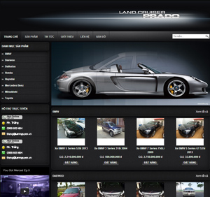 Thiết kế website dịch vụ bán xe ôtô