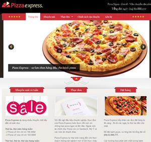 Thiết kế website dịch vụ bánh Pizza Express