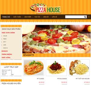 Thiết kế website dịch vụ bánh Pizza House
