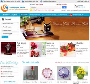 Thiết kế website dịch vụ chọn quà tặng đẹp