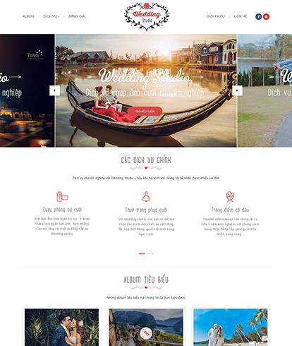 Thiết kế Website Dịch vụ chụp ảnh cưới Wedding Studio