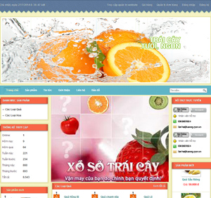 Thiết kế website dịch vụ hoa quả tươi
