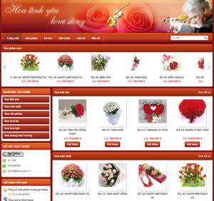 Thiết kế website dịch vụ Hoa tình yêu