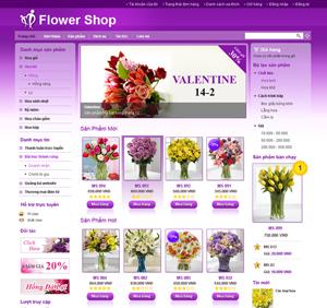 Thiết kế website dịch vụ hoa tươi