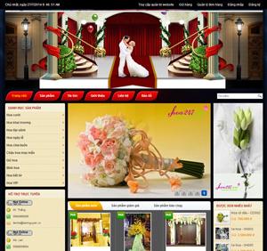 Thiết kế website dịch vụ hoa tươi đẹp