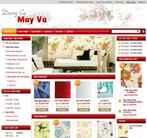 Thiết kế website dịch vụ may vá