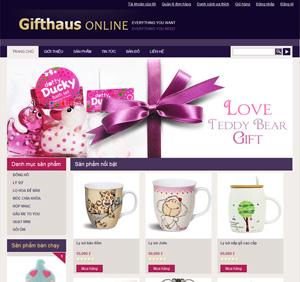 Thiết kế website dịch vụ quà tặng